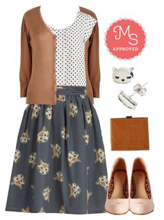 It Had to be Mew Skirt by modcloth on Polyvore featuring polyvore, fashion, style, POL, women's clothing, women's fashion, women, female, woman, misses and juniors
