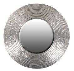 Massimo Silver Circle Mirror