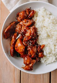 GINGER TERIYAKI CHICKEN [Japan] [thewoksoflife]