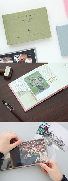 The Small Les Beaux Jours Scrapbook is for keeping the important and precious moments and things!