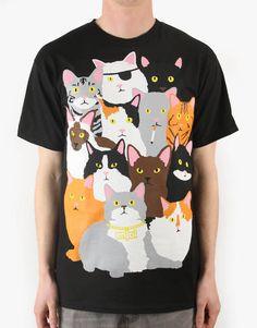 Enjoi Itty Bitty Kitty R1 Exclusive T-Shirt - Black