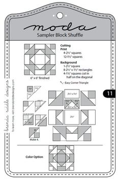 Moda Sampler Block Shuffle - Block 11