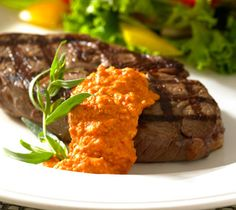 Thrifty Foods - Recipe - Grilled Top Sirloin Steak with Romesco Sauce