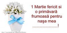 Felicitari personalizate de 1 Martie - Un mărțișor norocos pentru cea mai bună ...! - mesajeurarifelicitari.com Nasa, Martie, 1, Personal Care, Self Care, Personal Hygiene