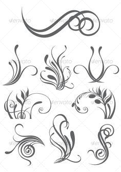 Floral design elements — JPG Image #baroque #decorative • Available here → https://graphicriver.net/item/floral-design-elements/81421?ref=pxcr