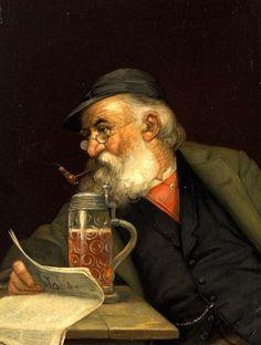 Anton Seitz (German, 1829-1900) Portrait Of A Man With Beer Mug Pakistan Art, Brewery Design, Beer Store, Beer Pictures, Beer Art, Beer Humor, Painting Inspiration, Vintage Art, Sculpture
