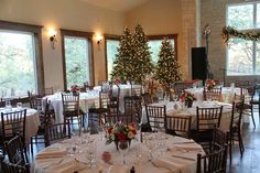 Grand Hall decorated for Christmas parties and weddings.