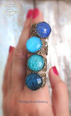 Mermaid Bohemian Gemstones Rings , Turquoise doublet bohemian Ring , Mermaid Rings by VintageRoseGallery Bohemian Rings, Bohemian Jewelry, Vintage Jewelry, Unique Jewelry, Gothic Jewelry, Etsy Jewelry, Jewelry Shop, Jewelry Ideas, Handmade Rings