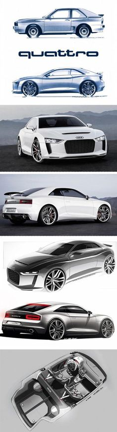 Audi, Car Design, Concept Cars Audi Quattro Concept Car