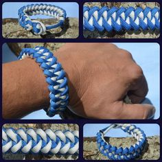Shark Jaw Bone paracord bracelet pattern inspired by JD Lenzen's Tying It All Together (TIAT) pattern is also know as the Piranha Pattern. Great colors for the beach goer.