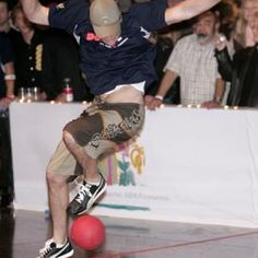 Participating in a dodgeball tournament can be a bonding moment between co-workers or friends.