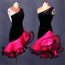 Robe De Danse latine Femmes Filles Pour Vente précisément Rumba Samba Salle  De Bal Danse 272507c3521