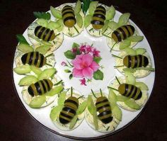 Bee / Butterfly Deviled Eggs -- I'm not sure which these are supposed to be, as the bodies look like bees, while the wings are more butterfly.  But they're awesome!