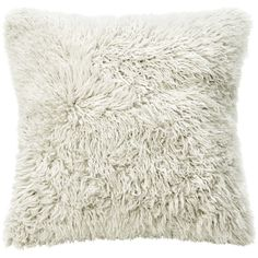 Grable Modern Milk White Curl Long Wool Pillow 22x22 (190 AUD) ❤ liked on Polyvore featuring home, home decor, throw pillows, modern throw pillows, wool throw pillows, mod home decor, modern home accessories and square throw pillows