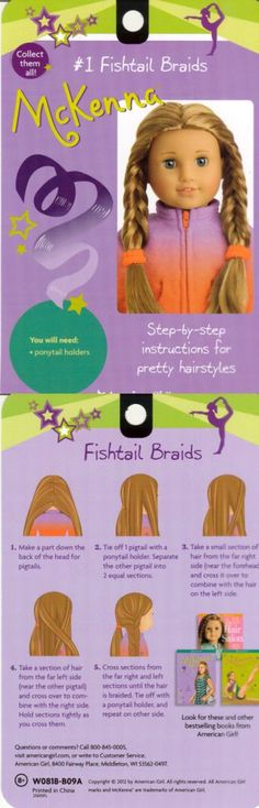 AmericanGirlFan: Hairstyles for Short American Girl Doll Hair!