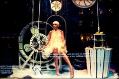 The window displays  mix fashion and technology to create a stunning scene.