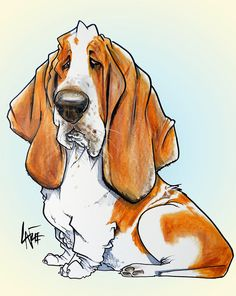 blues in deep thought ( about treats) Hachiko, Basset Hound Dog, Drag, Dog Portraits, Dog Art, Animal Drawings, Pet Birds, Animals And Pets, Cute Dogs