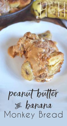 Monkey bread, sweetened with honey and cinnamon, seems like the perfect pairing for bananas and peanut butter! All of the added ingredients just sit on top and ooze into all of the crevices, giving you bites of peanut buttery goodness and hints of sweet cream cheese throughout.