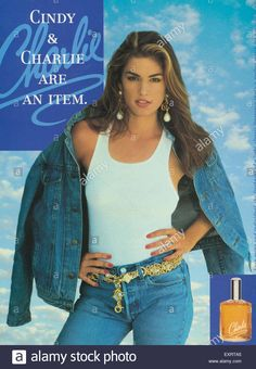 cindy crawford Magazine Advert Charlie by Revlon Cindy Crowford, Cindy Crawford Photo, Fit Women, Sexy Women, Cheap Boutique Clothing, 80s And 90s Fashion, Perfume, Trophy Wife, Revlon