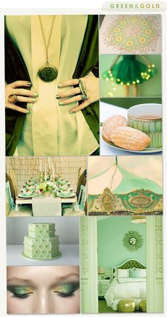 Green and Gold: my current bedroom colors.  Plan to keep it in the future, wherever I may end up.