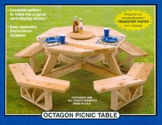 wood picnic table pattern