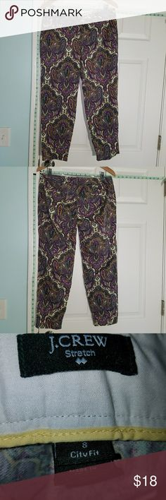 J.Crew Slacks These locks are in perfect condition. They're mostly cotton with a little bit of spandex. The design is very flattering to the form. J. Crew Pants