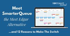 Looking for a Meet Edgar alternative? Meet SmarterQueue - a great alternative to Meet Edgar to post your evergreen social media posts as queued content. Social Media Scheduling Tools, Blog Tips, Online Marketing, Alternative, Meet, Evergreen, Posts, Content, Awesome