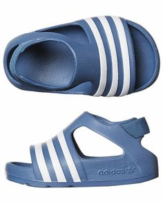 SURFSTITCH - FOOTWEAR - TODDLERS FOOTWEAR - TODDLER BOYS - ADIDAS TOTS ADILETTE PLAY THONG - ASH BLUE WHITE