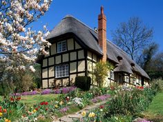 English cottage garden in spring looks a little like Maybeck!
