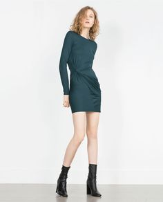 ZARA - NEW IN - DRESS WITH SIDE KNOT DETAIL