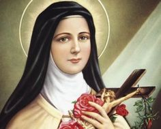 St Therese Prayer, St Therese Of Lisieux, St Theresa Little Flower, Little Flowers, Papa Juan Pablo Ii, Sainte Therese, Sign Of The Cross, Catholic Saints, Catholic Blogs