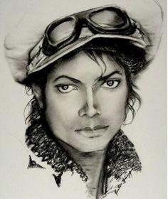 Charcoal Sketch - Micheal Jackson - Preston Young
