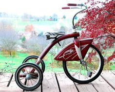 vintage Red Evans tricycle
