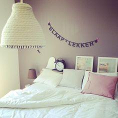 Slaap lekker aan muur - grappig idee!
