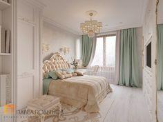Фото спальня из проекта «Дизайн трехкомнатной квартиры 100 кв.м. в стиле неоклассики, ЖК «Смольный парк»»