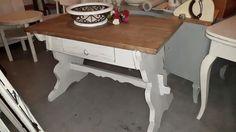 Vintage Tische - traumhafter alter Bauerntisch,Shabby,Vintage,weiß - ein Designerstück von zaubermausHD bei DaWanda