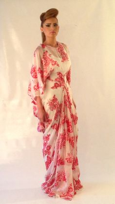 Sara Elemary flowery silk dress