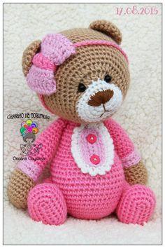 Вязаные игрушки, мои авторские и не только ♥ Tolle und findet Ihr bei ich freu mich auf Euch. Crochet Teddy, Crochet Bear, Crochet Patterns Amigurumi, Cute Crochet, Amigurumi Doll, Crochet Crafts, Crochet Dolls, Crochet Projects, Crochet Animal Patterns