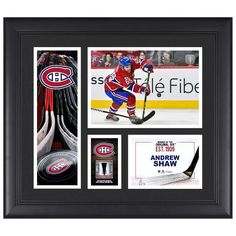 "Andrew Shaw Montreal Canadiens Fanatics Authentic Framed 15"" x 17"" Player Collage with a Piece of Game-Used Puck - $79.99"
