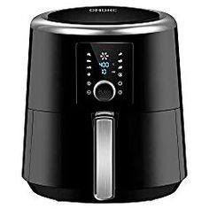 OMORC Air Fryer XL, Airfryer Oven Oilless Cooker with Hot Air Circulation Tech for Fast Healthier Food, 7 Cooking Presets and Heat Preservation Function - LCD Touch Screen (Recipe Book included) Small Kitchen Appliances, Cool Kitchens, Kitchen Small, Best Rated Air Fryer, Messy Kitchen, Kitchen Dining, Kitchen Tools, Kitchen Gadgets, Air Fryer Review