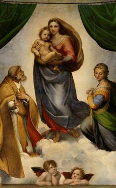 """""""Sistine Madonna"""" - Raphael."""