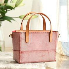 Handmade Womens Leather Handbag Tote Purse Tote Cute Shopper Side Tote Bag for Men Satchel Handbags, Leather Handbags, Leather Totes, Tote Purse, Crossbody Bag, Small Tote Bags, Green Leather, Purses And Bags, Handmade Handbags