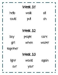 Treasures Reading Program First Grade Word Sort Unit 1