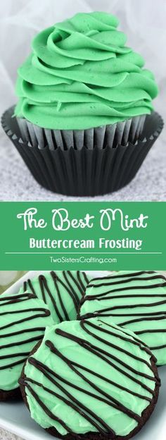 The Best Mint Buttercream Frosting - our delicious buttercream frosting infused with a light taste of Mint. Light and fresh and creamy, this yummy homemade butter cream frosting will take whatever you are baking to the next level, we promise! Pin this tasty Mint Icing for later and follow us for more great Frosting Recipes!