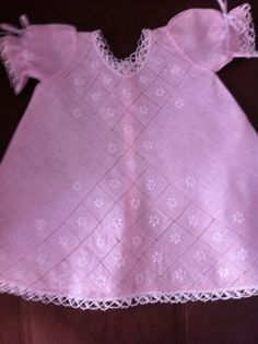 Baby girl dress - Bobbin laces (mundillo) 0-3 Months #Handmade #Dressy