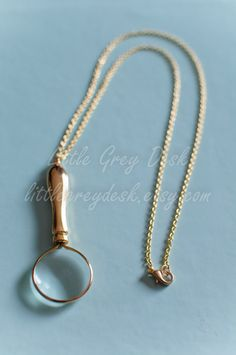 Mini Magnifying Glass Necklace, magnifying pendant