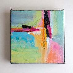 Colorful abstract painting/abstract art/painting on