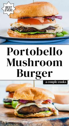 Portabella Burger, Grilled Portabella Mushrooms, Portobello Mushroom Burger, Stuffed Mushrooms, Stuffed Mushroom Recipes, Vegetarian Cookbook, Vegetarian Recipes Easy, Cooking Recipes, Vegetarian Barbecue