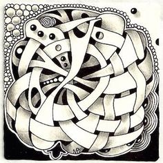 W2 Zentangle pattern by Margaret Bremner