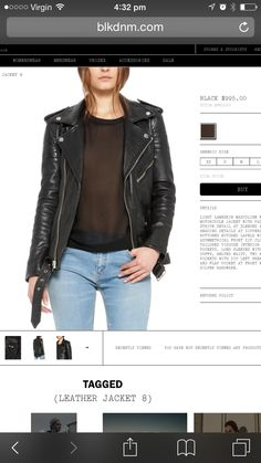 THE LEATHER JACKET! Must have